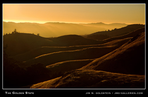The Golden State landscape photo by Jim M. Goldstein, stock photo