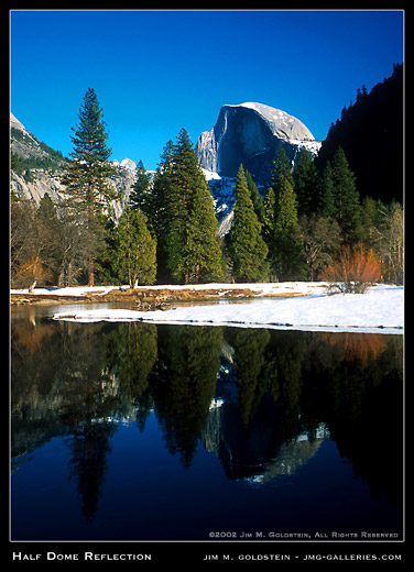 Half Dome Reflection landscape photograph by Jim M. Goldstein