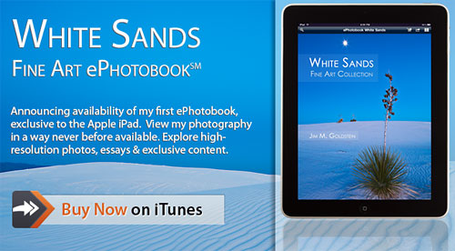 Announcing: ePhotobook White Sands HD iPad App