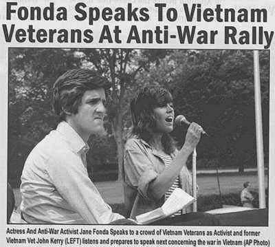 Doctored Photo of John Kerry at Vietnam Rally with Jane Fonda