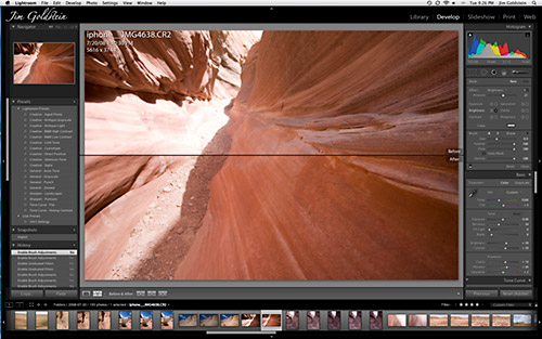 Lightroom 2 - Graduated Filter Before and After
