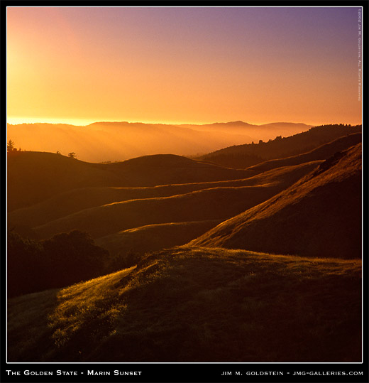 Marin Sunset landscape photo by Jim M. Goldstein