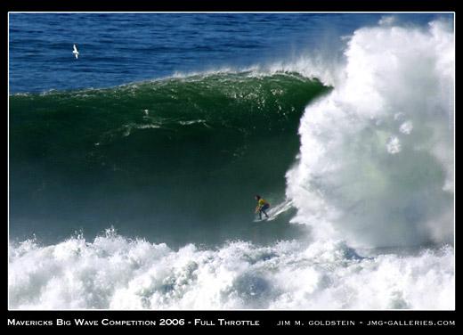 Mavericks Surf Contest - Full Throttle photo by Jim M. Goldstein