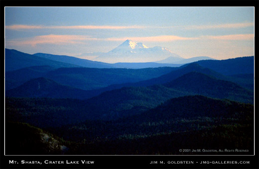 Mount Shasta View from Crater Lake - landscape photograph by Jim M. Goldstein