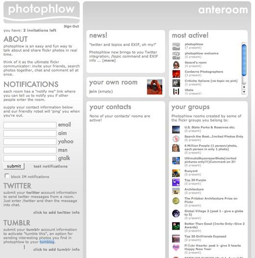 Photophlow anteroom