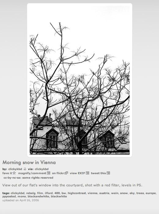 Photophlow medium image display