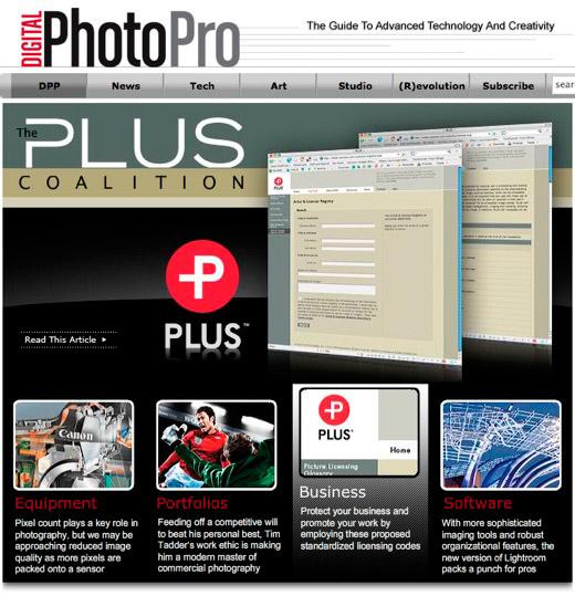 Digital Photo Pro Web Site - The Plus Coalition