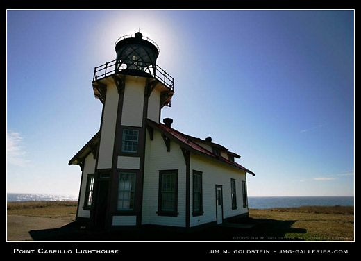 Point Cabrillo Lighthouse architectural photo by Jim M. Goldstein