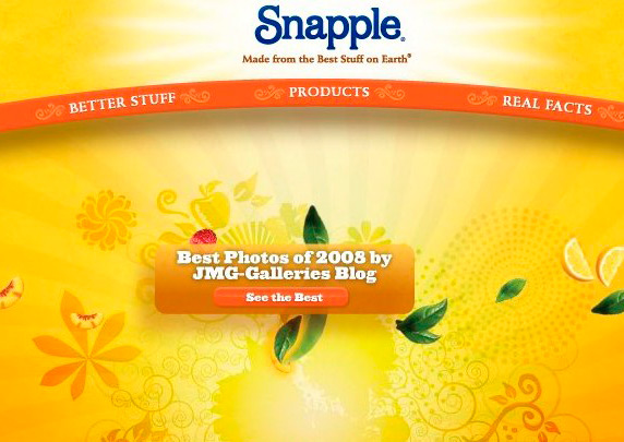 JMG-Galleries.com Featured in Snapple.com Best of Feature