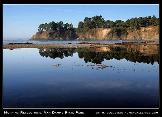 Van Damme State Park landscape photo by Jim M. Goldstein