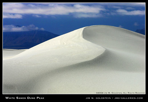 White Sands Dune Peak landscape photograph by Jim M. Goldstein