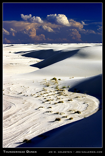 Thunderhead Dunes, White Sands National Monument landscape photo by Jim M. Goldstein