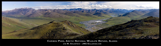 Arctic National Wildlife Refuge - Caribou Pass and Kongakut River Panoramic