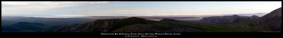 Arctic National Wildlife Refuge - Demarcation Bay and Coastal Plain View Panoramic