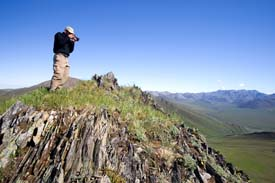Arctic Refuge - John Greengo Photographing The View At Caribou Pass