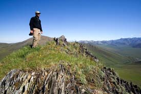 John Greengo Taking In The View At Caribou Pass