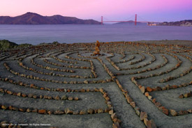 Last Light at the Lands End Labyrinth
