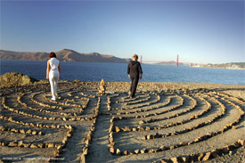 Locals Walk The Labyrinth As Part of their Nightly Routine (I)