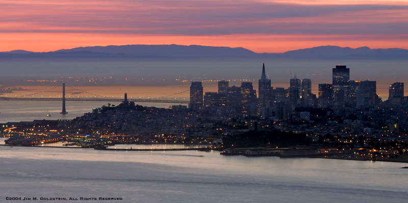 San Francisco Sunrise From The Marin Headlands