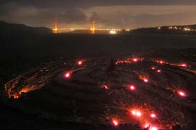 Lands End Labyrinth On Fire