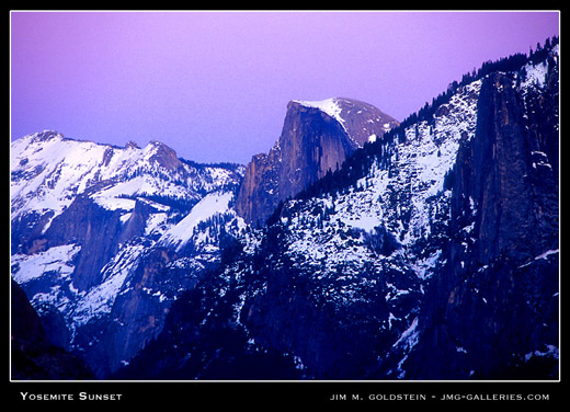 Yosemite Sunset - landscape photo by Jim M. Goldstein