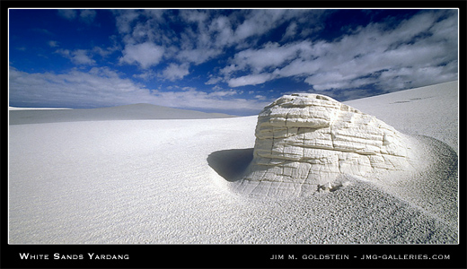 White Sands Yardang, New Mexico landscape photograph by Jim M. Goldstein