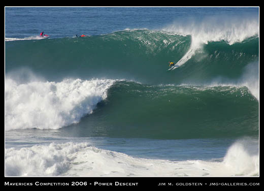 Mavericks Big Wave Surf Competition 2006 - Power Descent photographed by Jim M. Goldstein