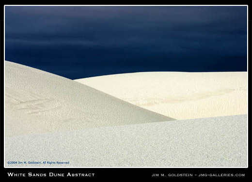 White Sands Dune Abstract landscape photo by Jim M. Goldstein
