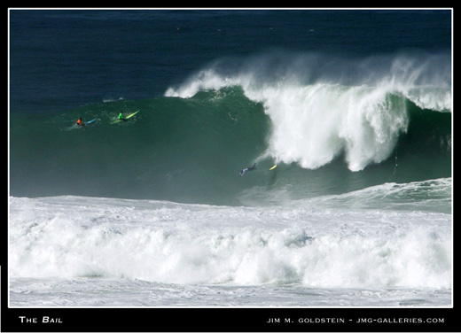 Mavericks Big Wave Surf Competition 2005 - The Bail photographed by Jim M. Goldstein