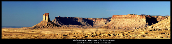 Four Corners Panoramic Photo by Jim M. Goldstein