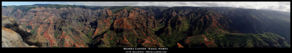 Waimea Canyon Panoramic Photo by Jim M. Goldstein