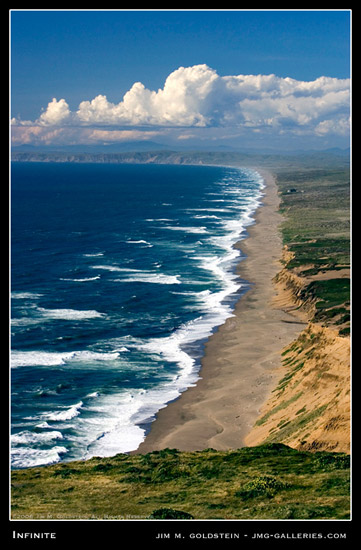 Infinite, Point Reyes National Seashore landscape photo by Jim M. Goldstein