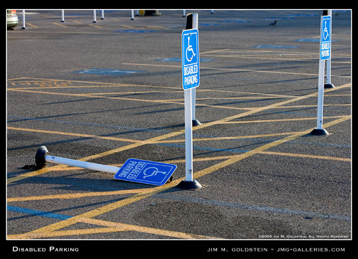 Disabled Parking photographed by Jim M. Goldstein