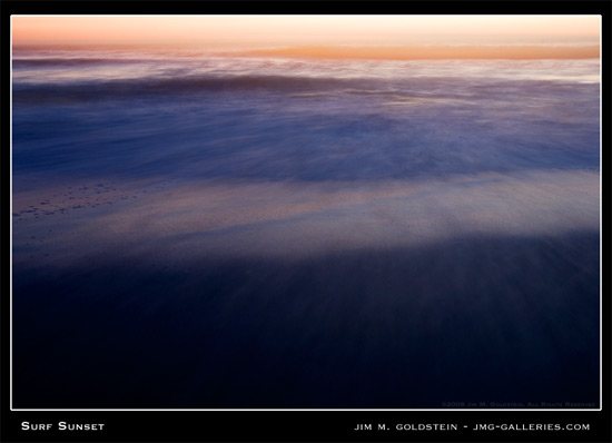 Surf Sunset - San Francisco Landscape photograph by Jim M. Goldstein