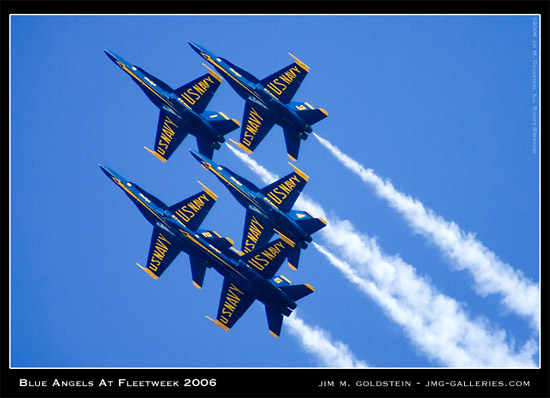 Blue Angels in Formation at Fleetweek San Francisco 2006